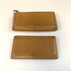 Coach Bags - Coach Trifold Leather Wallet with Checkbook Holder